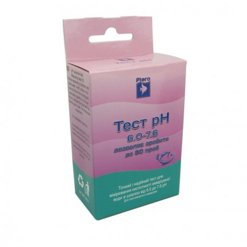 Птеро Тест pH 6.0-7.6 кислотність крок 0.2